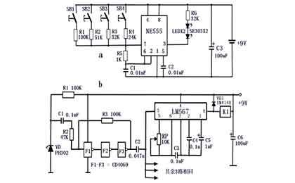无轨直线门无线遥控路的工作原理
